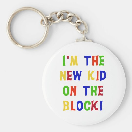 New Kid on the Block Basic Round Button Key Ring