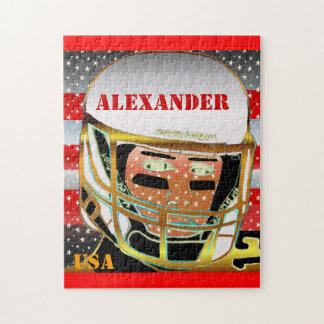 New Kids Football Personalized Puzzle Sports Gift