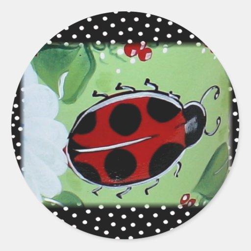 New Lady- Bugs Round Sticker