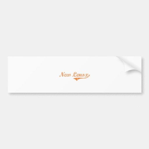 New Lenox Illinois Classic Design Bumper Stickers