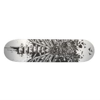 New life (blackandwhite) 18.1 cm old school skateboard deck