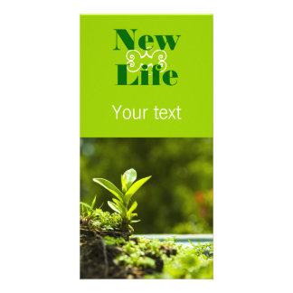 New life customised photo card