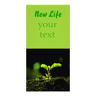 New life personalised photo card