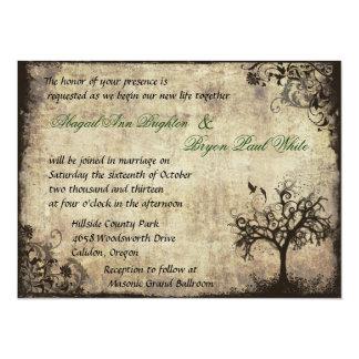New Life Vintage Wedding Invitation
