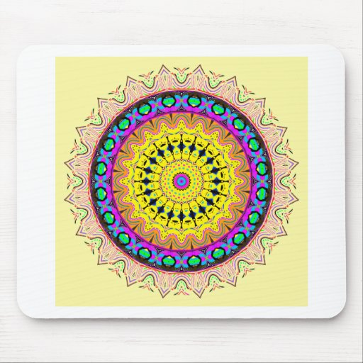 New Linear Soft Sand Yellow Blue Mouse Pads