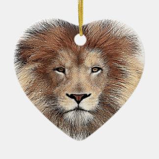 New Lion Print Christmas Ornament
