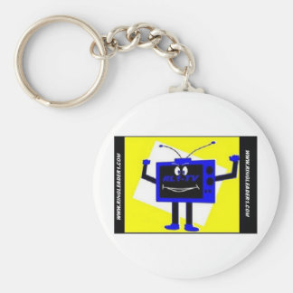 NEW LOGO FROM BLOG WITH DOT COM BASIC ROUND BUTTON KEY RING