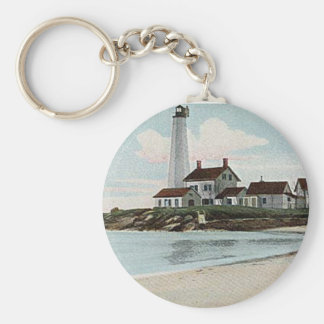 New London Harbor Lighthouse Key Ring