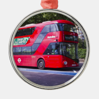 New London Red Bus Christmas Ornament