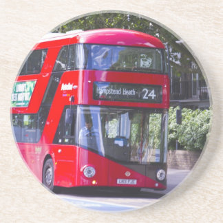 New London Red Bus Coasters