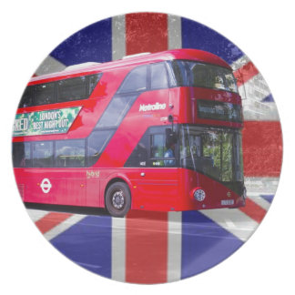 New London Red Bus Plate