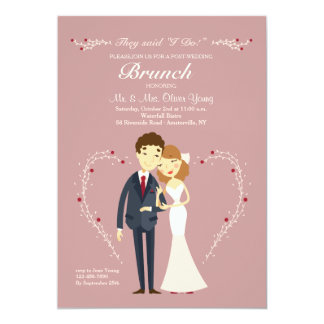 New Love Post Wedding Brunch Invitation