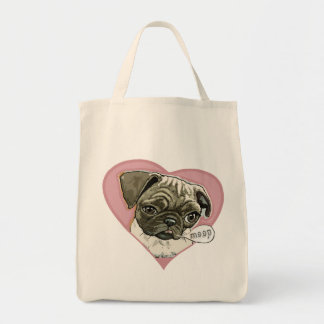 New Love Pug by Mudge Studios Bag