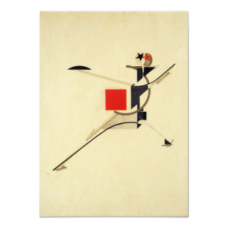 New Man by El Lissitzky Abstract Custom Announcements