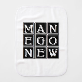 New man now burp cloth