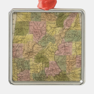 New Map Of Alabama 2 Christmas Ornament