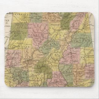 New Map Of Alabama 2 Mouse Mat