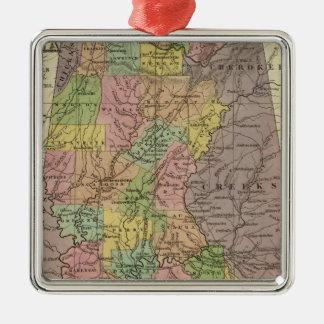 New Map Of Alabama Christmas Ornament