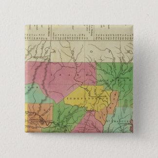 New Map Of Arkansas 2 15 Cm Square Badge