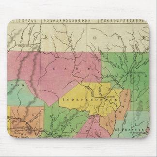 New Map Of Arkansas 2 Mouse Mat