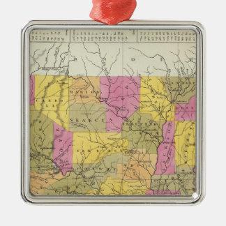 New Map Of Arkansas Christmas Ornament