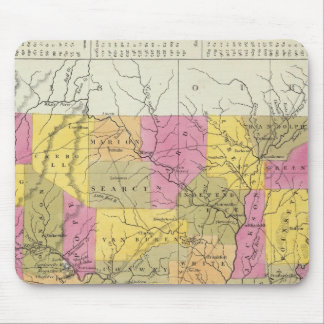 New Map Of Arkansas Mouse Mat