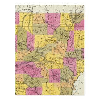 New Map Of Arkansas Postcard