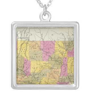 New Map Of Arkansas Silver Plated Necklace