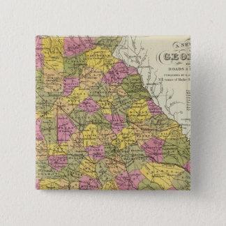 New Map Of Georgia 15 Cm Square Badge