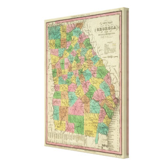 New Map Of Georgia 2 Canvas Print