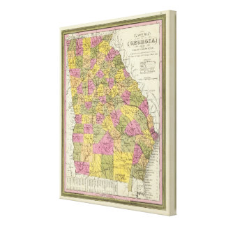 New Map Of Georgia Canvas Print