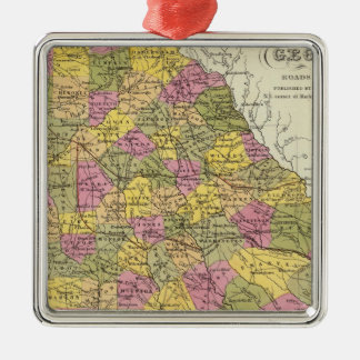 New Map Of Georgia Christmas Ornament