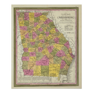 New Map Of Georgia Poster