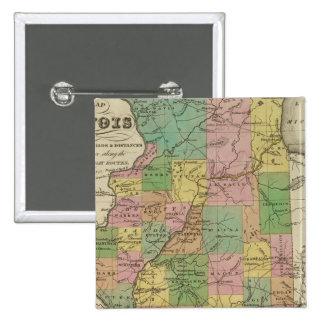 New Map Of Illinois 15 Cm Square Badge