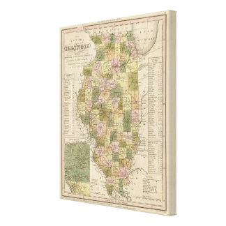 New Map Of Illinois 2 Canvas Print