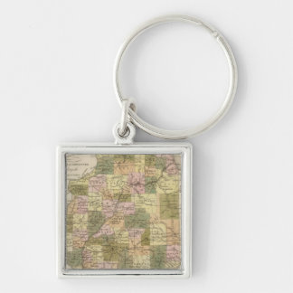 New Map Of Illinois 2 Key Ring