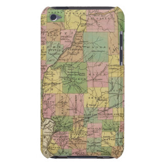 New Map Of Illinois Barely There iPod Covers
