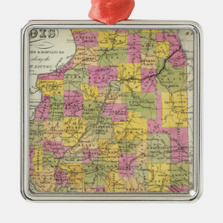 New Map Of Illinois Christmas Ornament