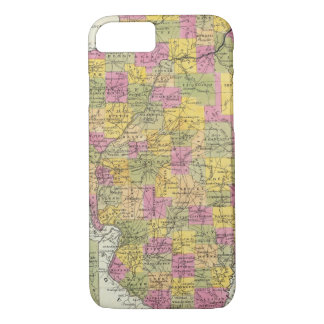 New Map Of Illinois iPhone 8/7 Case