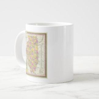 New Map Of Illinois Large Coffee Mug
