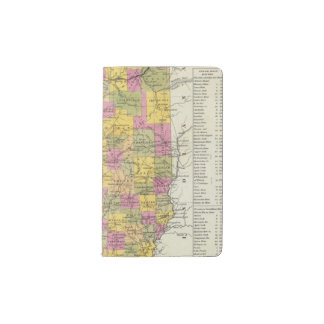 New Map Of Illinois Pocket Moleskine Notebook