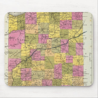 New Map Of Indiana 2 Mouse Mat