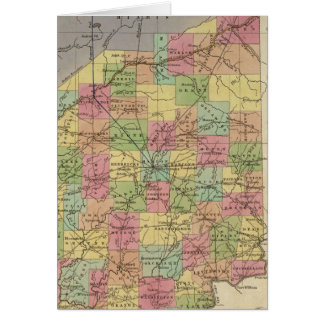 New Map Of Indiana Card