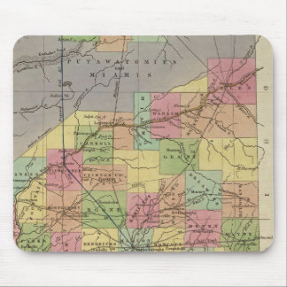 New Map Of Indiana Mouse Mat