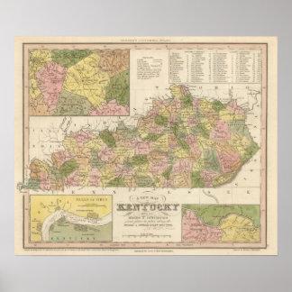New Map Of Kentucky 2 Poster
