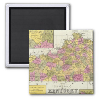 New Map Of Kentucky Magnet