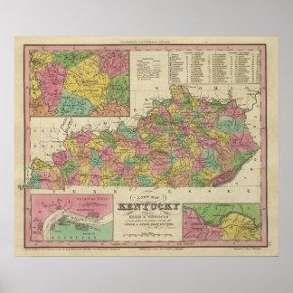 New Map Of Kentucky Poster
