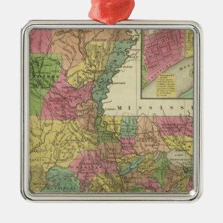 New Map Of Louisiana 2 Christmas Ornament