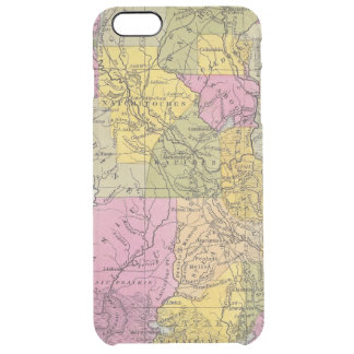 New Map Of Louisiana 3 Clear iPhone 6 Plus Case