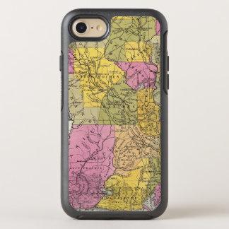 New Map Of Louisiana 3 OtterBox Symmetry iPhone 7 Case